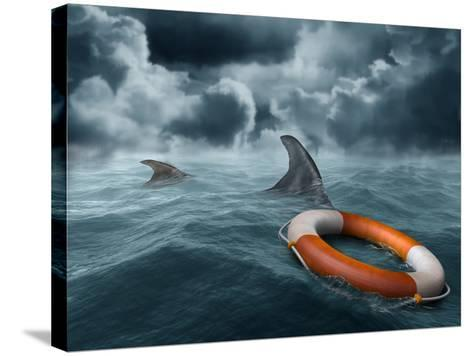 Lost At Sea-paul fleet-Stretched Canvas Print