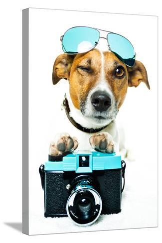 Dog Photo Camera-Javier Brosch-Stretched Canvas Print