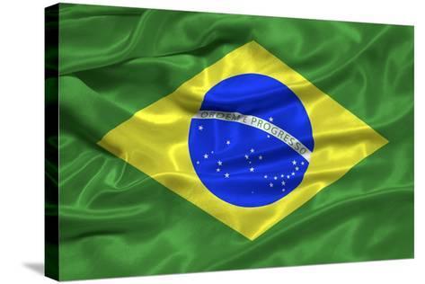Brazil Flag-Sarah Nicholl-Stretched Canvas Print