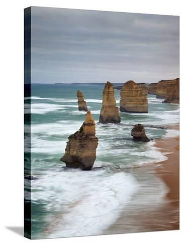 The Twelve Apostles, Port Campbell, Victoria, Australia-Walter Bibikow-Stretched Canvas Print