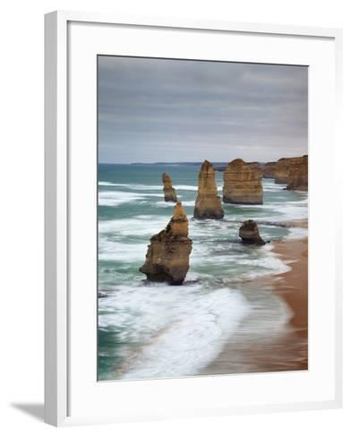 The Twelve Apostles, Port Campbell, Victoria, Australia-Walter Bibikow-Framed Art Print