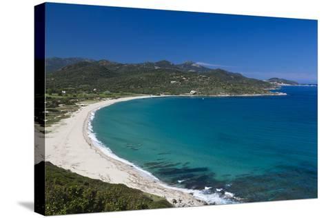 Plage Lozari Beach, La Balange, Corsica, France-Walter Bibikow-Stretched Canvas Print
