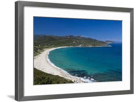 Plage Lozari Beach, La Balange, Corsica, France-Walter Bibikow-Framed Art Print