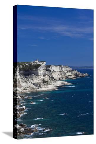 Falaises Cliffs Towards Capo Pertusato, Bonifacio, Corsica, France-Walter Bibikow-Stretched Canvas Print