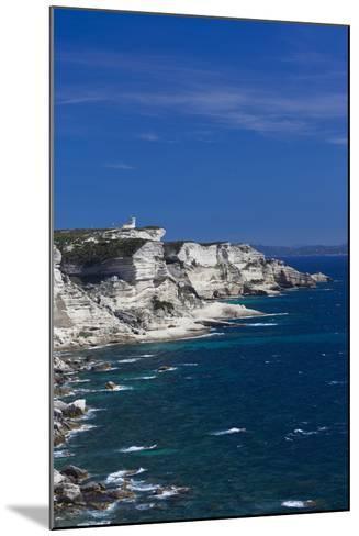 Falaises Cliffs Towards Capo Pertusato, Bonifacio, Corsica, France-Walter Bibikow-Mounted Photographic Print
