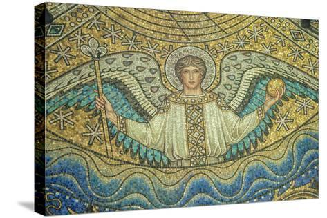 Aachen Cathedral, Mosaic of Arch Angel, Aachen, Germany-Jim Engelbrecht-Stretched Canvas Print