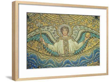 Aachen Cathedral, Mosaic of Arch Angel, Aachen, Germany-Jim Engelbrecht-Framed Art Print