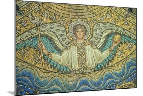 Aachen Cathedral, Mosaic of Arch Angel, Aachen, Germany-Jim Engelbrecht-Mounted Photographic Print