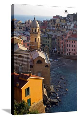 Europe, Italy, Vernazza. Cinque Terre Town of Vernazza, Italy-Kymri Wilt-Stretched Canvas Print