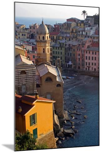 Europe, Italy, Vernazza. Cinque Terre Town of Vernazza, Italy-Kymri Wilt-Mounted Photographic Print
