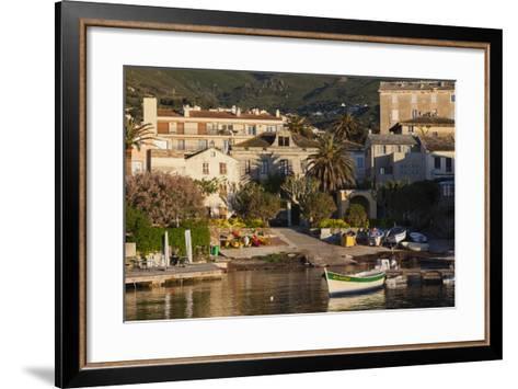 Port View at Dawn, Erbalunga, Le Cap Corse, Corsica, France-Walter Bibikow-Framed Art Print
