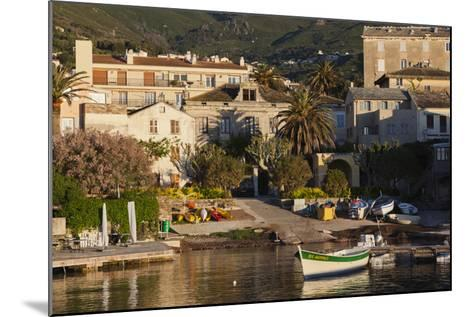 Port View at Dawn, Erbalunga, Le Cap Corse, Corsica, France-Walter Bibikow-Mounted Photographic Print