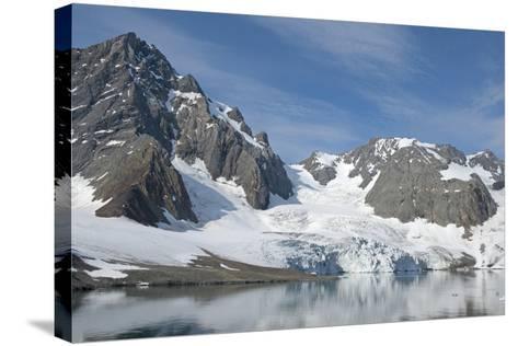 Hornbreen Glacier, Spitsbergen, Svalbard, Norway-Steve Kazlowski-Stretched Canvas Print