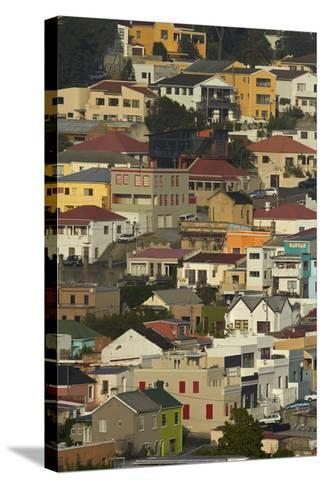Suburb of Bo-Kaap, Cape Town, South Africa-David Wall-Stretched Canvas Print