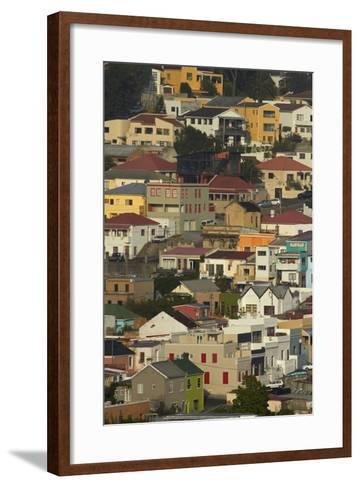 Suburb of Bo-Kaap, Cape Town, South Africa-David Wall-Framed Art Print