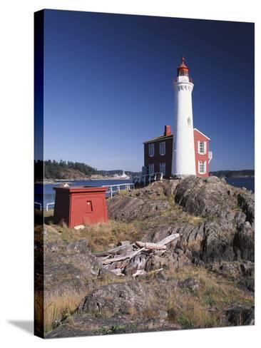 Fisgard Lighthouse, Fort Rodd, Victoria, British Columbia, Canada-Walter Bibikow-Stretched Canvas Print