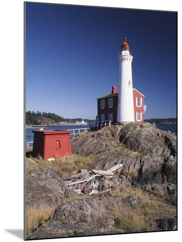 Fisgard Lighthouse, Fort Rodd, Victoria, British Columbia, Canada-Walter Bibikow-Mounted Photographic Print