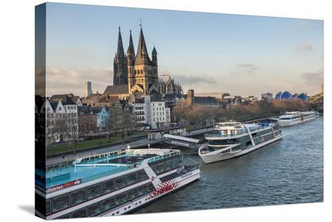 The Great Saint Martin Church and Cologne Cathedral, Cologne, Germany-Lisa S^ Engelbrecht-Stretched Canvas Print