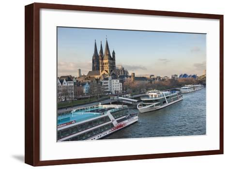 The Great Saint Martin Church and Cologne Cathedral, Cologne, Germany-Lisa S^ Engelbrecht-Framed Art Print
