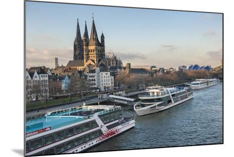 The Great Saint Martin Church and Cologne Cathedral, Cologne, Germany-Lisa S^ Engelbrecht-Mounted Photographic Print