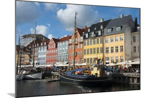 Crowds at Cafes and Restaurants, Nyhavn, Copenhagen, Denmark-Inger Hogstrom-Mounted Photographic Print