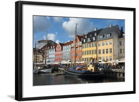 Crowds at Cafes and Restaurants, Nyhavn, Copenhagen, Denmark-Inger Hogstrom-Framed Art Print