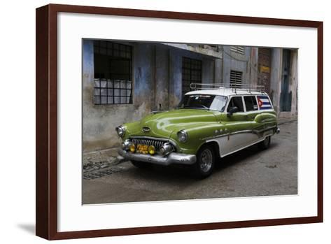 1950's Era Antique Car and Street Scene from Old Havana, Havana, Cuba-Adam Jones-Framed Art Print