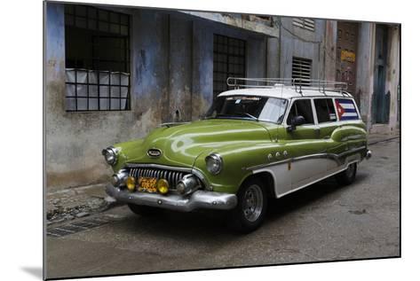 1950's Era Antique Car and Street Scene from Old Havana, Havana, Cuba-Adam Jones-Mounted Photographic Print