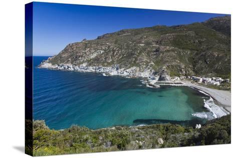 Elevated View, Marine De Giottani, Le Cap Corse, Corsica, France-Walter Bibikow-Stretched Canvas Print