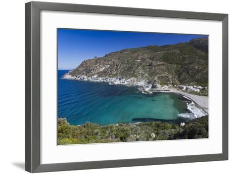 Elevated View, Marine De Giottani, Le Cap Corse, Corsica, France-Walter Bibikow-Framed Art Print