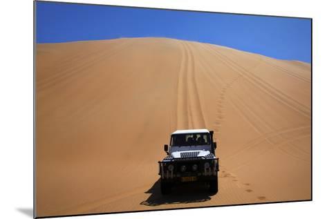 Car Descending a Sand Dune, Namib-Naukluft National Park, Namibia-David Wall-Mounted Photographic Print