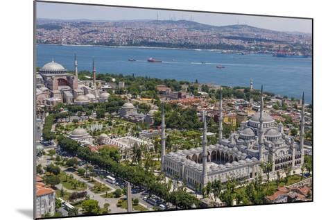 Hagia Sophia and the Blue Mosque, Aerial, Bosphorus, Istanbul, Turkey-Ali Kabas-Mounted Photographic Print
