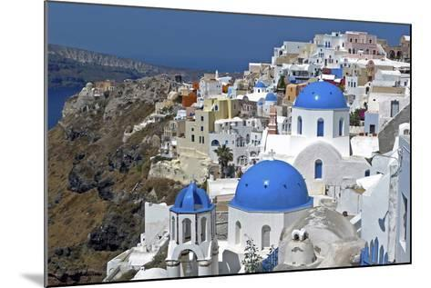 The Town of Oia on the Island of Santorini, Greece-David Noyes-Mounted Photographic Print