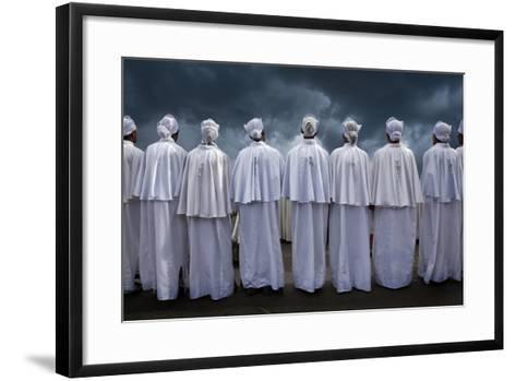 Christians at Timkat Festival, Adis Ababa, Ethiopia-Jaynes Gallery-Framed Art Print