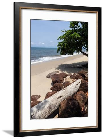 View of the Ocean on the Gulf of Guinea, Libreville, Gabon-Alida Latham-Framed Art Print