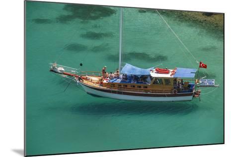 Gulet in Paradise Cove (Ilica Buku), Bodrum, Mugla, Turkey-Ali Kabas-Mounted Photographic Print