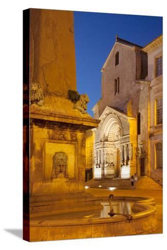Place De La Republique, Arles, Provence, France-Brian Jannsen-Stretched Canvas Print