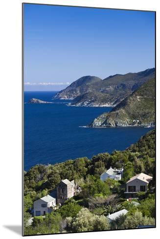 Coastal View of Pino, Le Cap Corse, Corsica, France-Walter Bibikow-Mounted Photographic Print