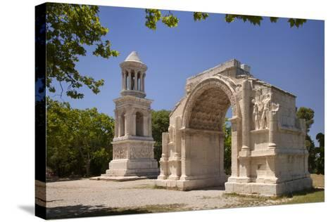 Carved Roman Trophies, Glanum, France.-Brian Jannsen-Stretched Canvas Print
