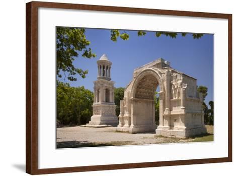Carved Roman Trophies, Glanum, France.-Brian Jannsen-Framed Art Print