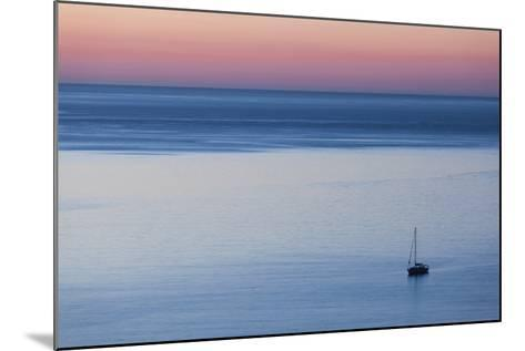 Elevated Port View at Dusk, St-Florent, Le Nebbio, Corsica, France-Walter Bibikow-Mounted Photographic Print
