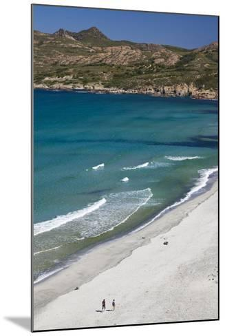 Elevated View of Plage De Ostriconi, Le Nebbio, Corsica, France-Walter Bibikow-Mounted Photographic Print