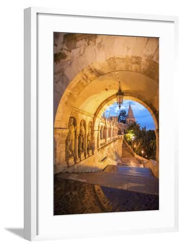 Fisherman's Bastion at Night, Buda, Budapest, Hungary-Jim Engelbrecht-Framed Art Print