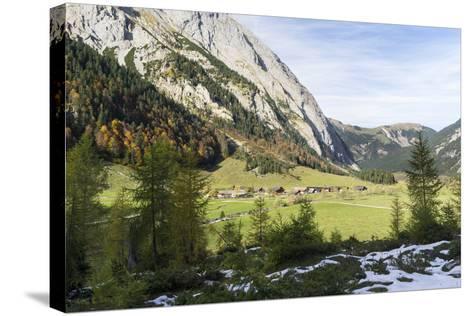 Eng Valley in Late Autumn, Karwendel Mountais, Tyrol, Austria-Martin Zwick-Stretched Canvas Print