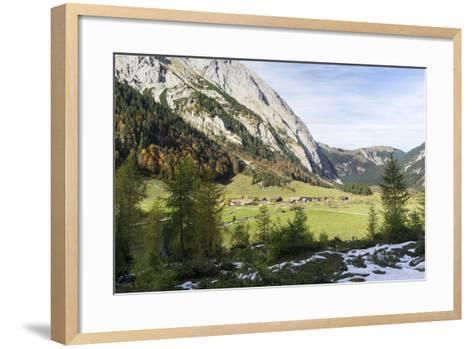 Eng Valley in Late Autumn, Karwendel Mountais, Tyrol, Austria-Martin Zwick-Framed Art Print