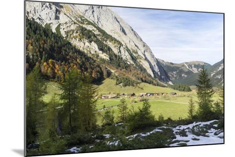 Eng Valley in Late Autumn, Karwendel Mountais, Tyrol, Austria-Martin Zwick-Mounted Photographic Print