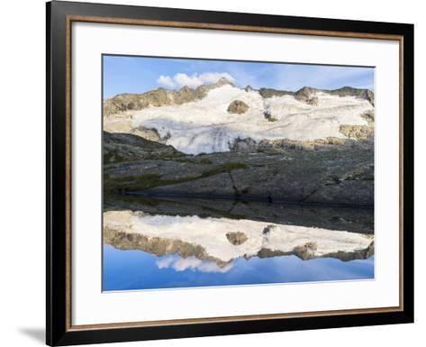 Peak of Mt Grossvenediger, Nationalpark Hohe Tauern, Salzburg, Austria-Martin Zwick-Framed Art Print
