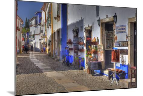 Street Along Obidos, Leiria, Portugal-Julie Eggers-Mounted Photographic Print