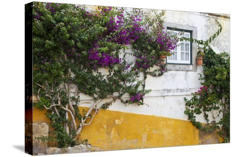 Street Along Obidos, Leiria, Portugal-Julie Eggers-Stretched Canvas Print
