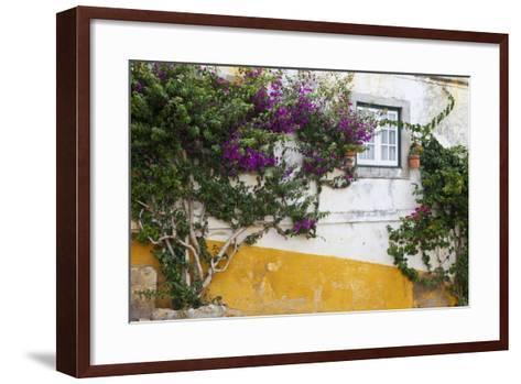 Street Along Obidos, Leiria, Portugal-Julie Eggers-Framed Art Print
